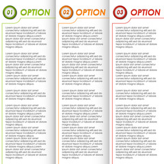 Colored options brochure background