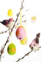 Easter eggs and birds