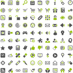 Top Green Grey Icons - Internet Shop Website