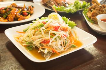 Papaya Salad,Thai Famous Food