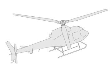 cartoon image of generic helicopter