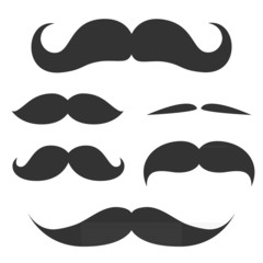 Set of cute mustache.