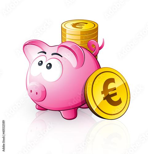 Cochon tirelire euro imagens e vetores de stock royalty - Tirelire dessin ...