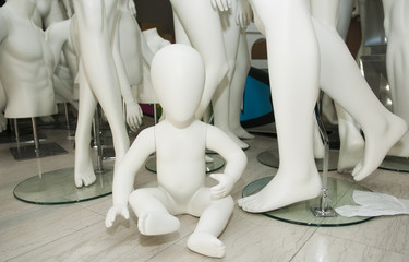 Clothing mannequins