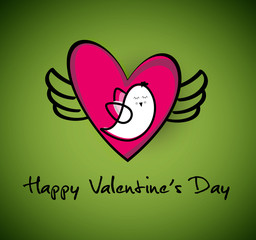 Happy Valentine's Day Greeting Card,vector illustration.