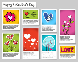 Happy Valentine's Day with Squares,Vector Illustration