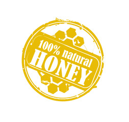 100% natural honey rubber stamp
