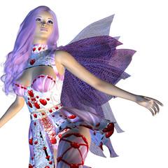 Valentine fairy with violet hair