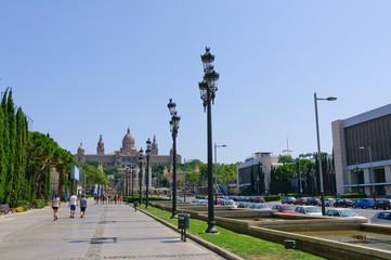 Plaça d'Espanya in Barcelona, Spain