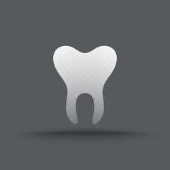 Vector of transparent teeth icon on isolated background