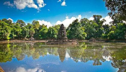 Neak Pean buddhist temple, Siem Reap. Cambodia.