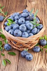 Basket of Blueberries