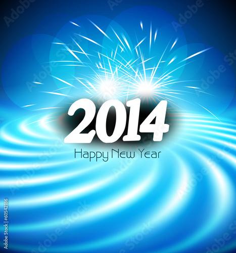 Happy new year 2014 greeting card celebration blue colorful wav happy new year 2014 greeting card celebration blue colorful wav m4hsunfo