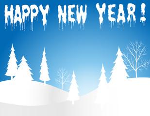 New Year-Snowy Landscape