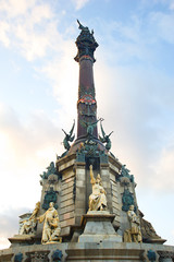 The Columbus Monument in Barcelona