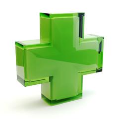 Pharmacy symbol 3D