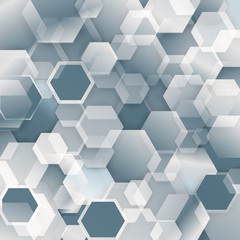 Business & Technology concept abstract hexagonal background