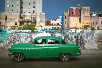 HAVANA, CUBA - JUNE 27: Vintage cars on the streets of Havana, J