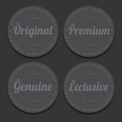 icon button and sticker label theme art