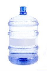 Big bottle of drinking water on a white background