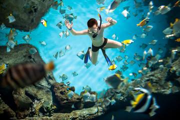 Snorkeler underwater