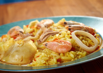 Spanish Paella de Marisco
