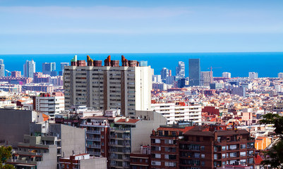 residence district in Barcelona, Spain