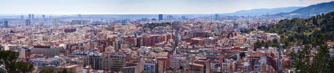 panoramic view of  metropolitan area. Barcelona