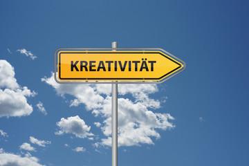Wegweiser Kreativität