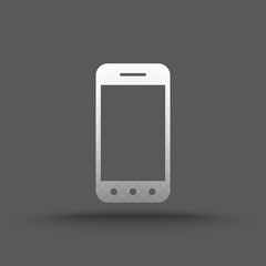 Vector of transparent mobile phone icon on isolated background