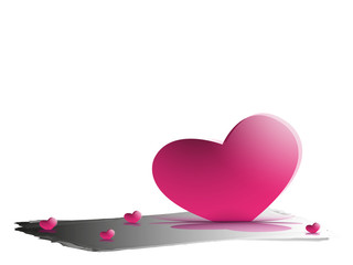 hearts on a white background .Vector eps 10.