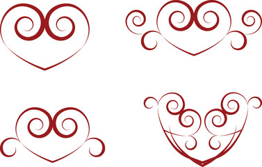 vintage heart symbols