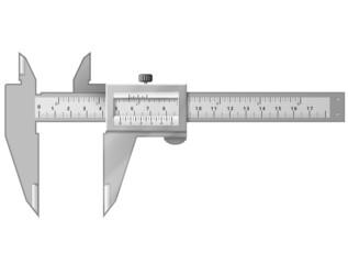 Vernier caliper isolated on white