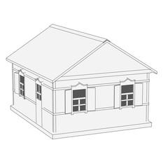 cartoon image of russian house