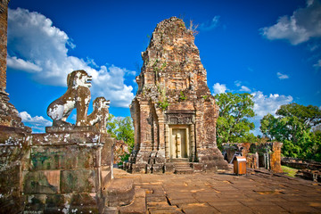 Eastern Mebon temple in Angkor wat complex, Cambodia.