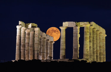 Sounion temple.Greece.
