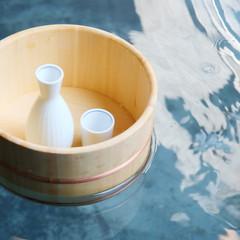 徳利と桶(温泉イメージ)