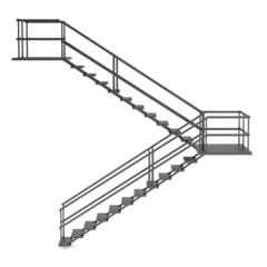 realistic 3d render of stairs