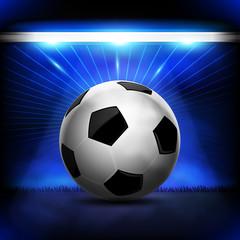 blue soccer ball lighting