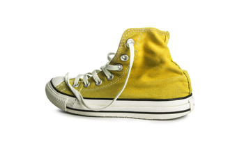 Yellow gym sneakers