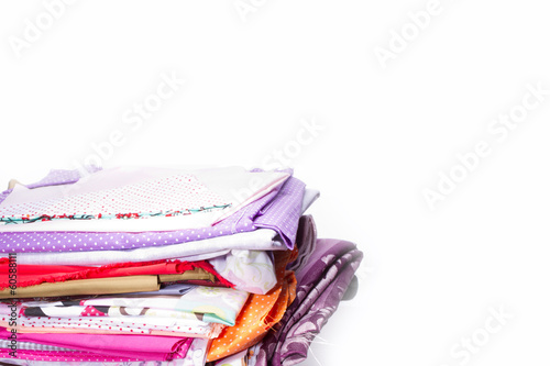 Bunte Stoffe Zum Nahen Stock Photo And Royalty Free Images On