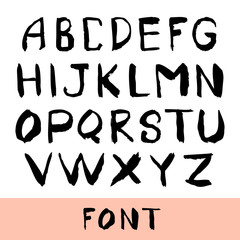 Quality font. English alphabet