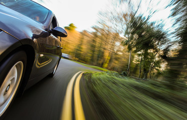 Fototapete - Fast driving car.