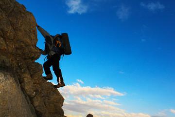 Wall Mural - dağcı tırmanış