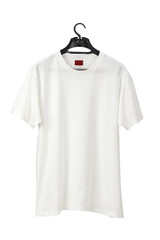White T-Shirt on hanger /clipping path