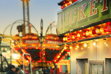 Canvas Prints Amusement Park Tickets