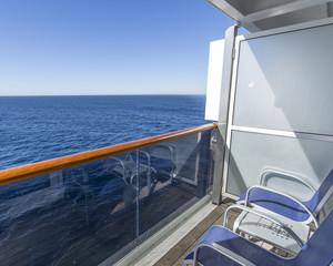 Balcony on luxury cruise ship