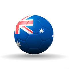 Commonwealth of Australia flag textured on soccer ball , clippin