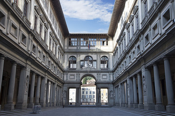 Fototapete - Uffizi Gallery at early morning