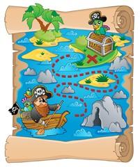 Foto op Plexiglas Piraten Treasure map topic image 2